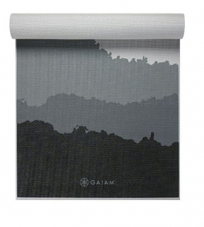Gaiam Podložka na jogu MOUNTAINS 173x61x0,6cm, sivá